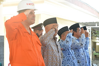 Semarak hari kemerdekaan di Lapangan Banyu Urip