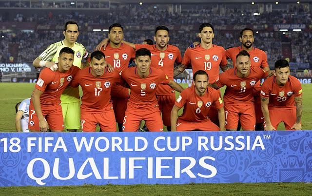 Formación de Chile ante Argentina, Clasificatorias Rusia 2018, 23 de marzo de 2017