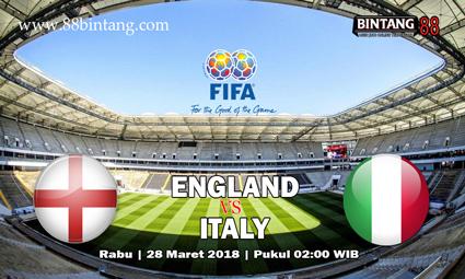 Prediksi Inggris vs Italia 28 Maret 2018