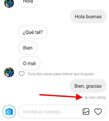 como saber si vieron mi mensaje en Instagram