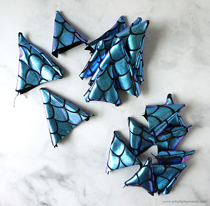 Dragon Spikes Fabric Pieces