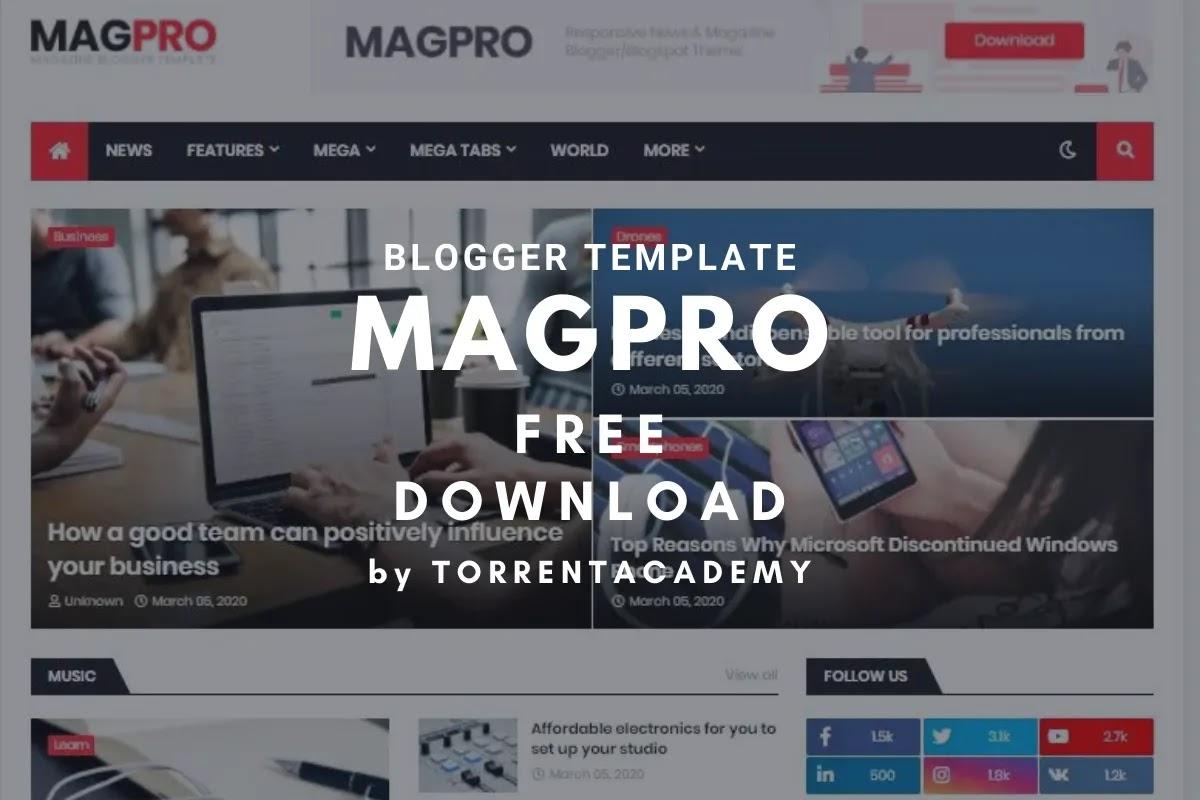 MagPro premium blogger template
