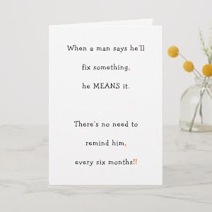 Funny Humor Boyfriend Husband Birthday Fathers Day Holiday Card