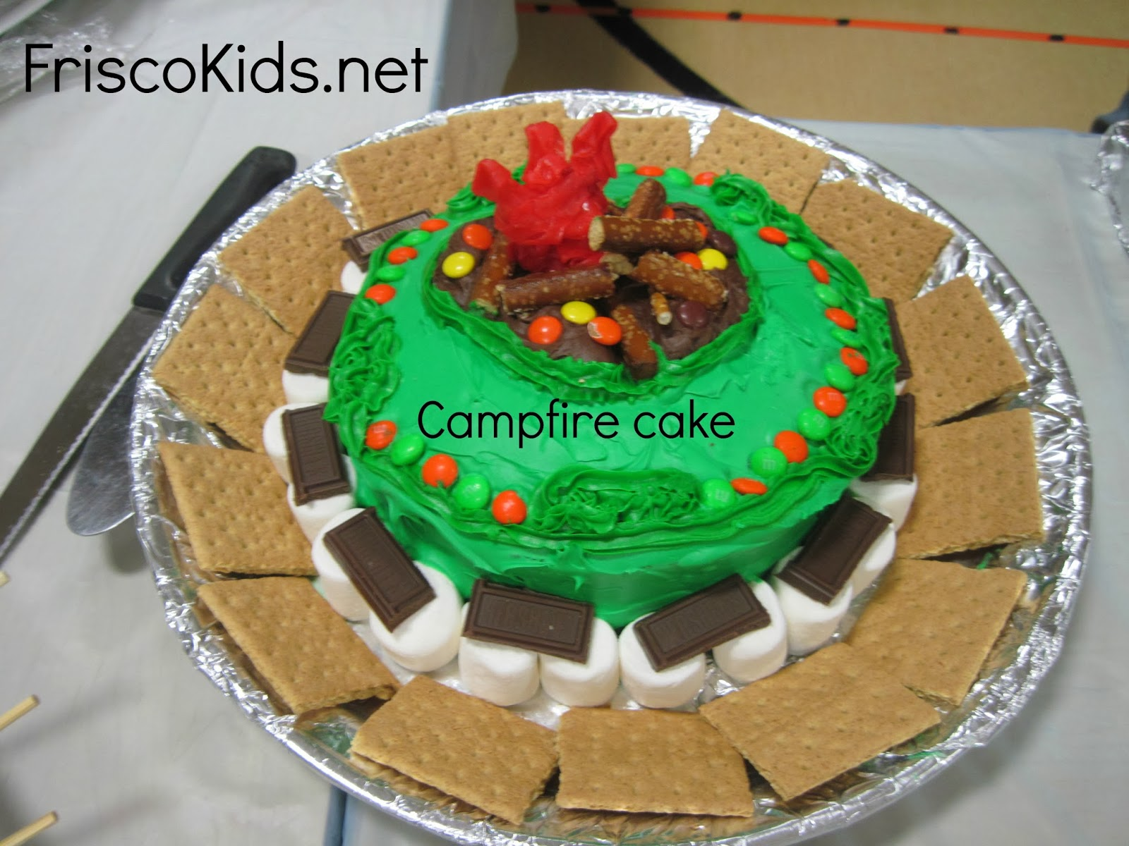 Here You Can See The Awesome Competition With Many Cakes Using A Campfire And Camping Theme I Think Were All Amazing