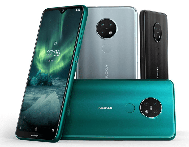 Different colors of Nokia 7.2