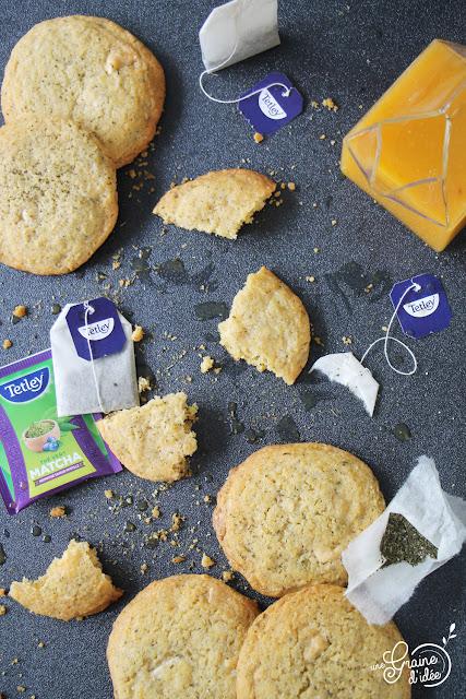 Cookie au Thé Vert Matcha Myrtille Chocolat Blanc Tetley Recette Facile Rapide