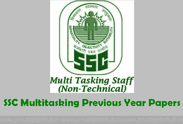 SSC Multitasking Previous Year Papers