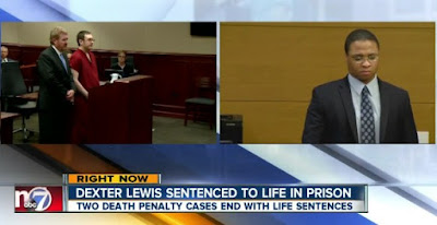 James Holmes (L) and Dexter Lewis (R) sentenced to life in prison