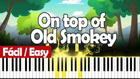 On top of old smoky - The Weavers - Piano PDF - Notas musicales