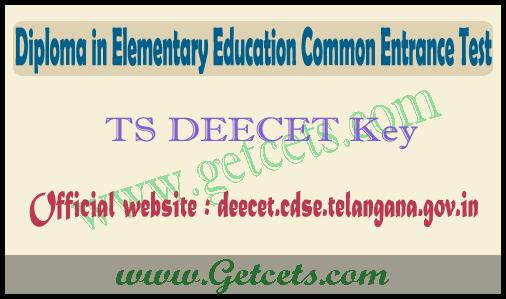 TS DEECET Key paper 2020-2021 pdf download, result date