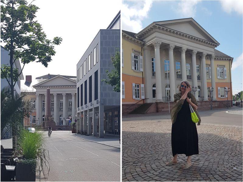 Markgräfliche Palais und Verfassungssäule in Karlsruhe