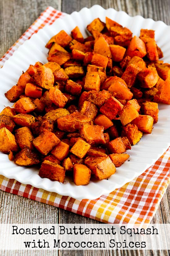 Roasted Butternut Squash with Moroccan Spices found on KalynsKitchen.com