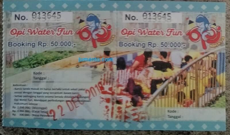 tiket masuk opi waterpark