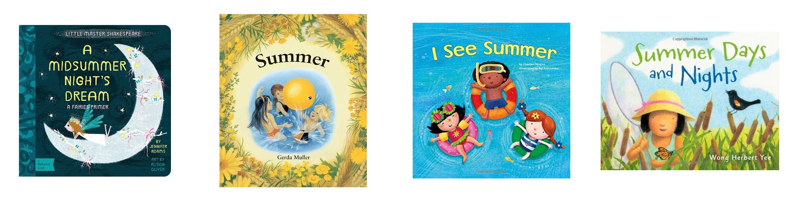 four summer themed books for kids and toddlers