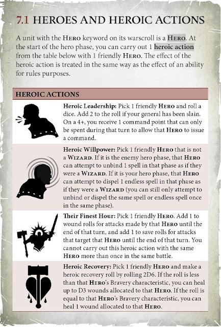 Age of Sigmar acciones heroicas
