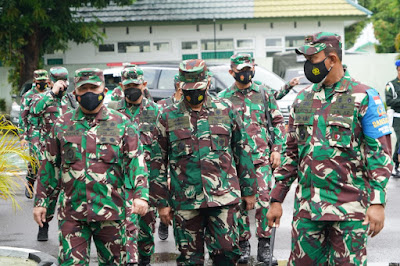Danrem 162/WB Apresiasi Semangat Satgas Pamtas RI-RDTL Dalam Riksiapops Terakhir Oleh Asops Panglima TNI