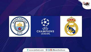 مشاهدة مباراة مانشستر سيتي و ريال مدريد مباشر