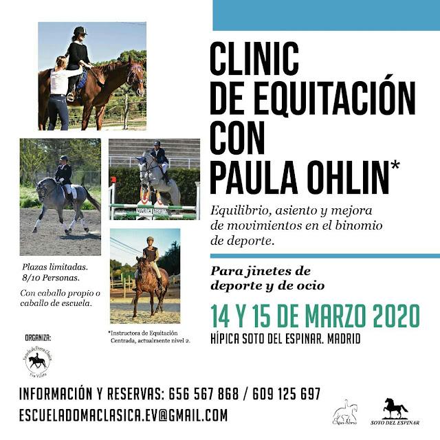 Clinic con Paula Ohlin en Madridd