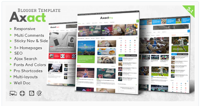 Axact Premium Responsive Blogger Theme Get upto 87% off