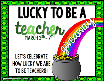 http://countlesssmartcookies.blogspot.com/2016/03/lucky-to-be-teacher.html