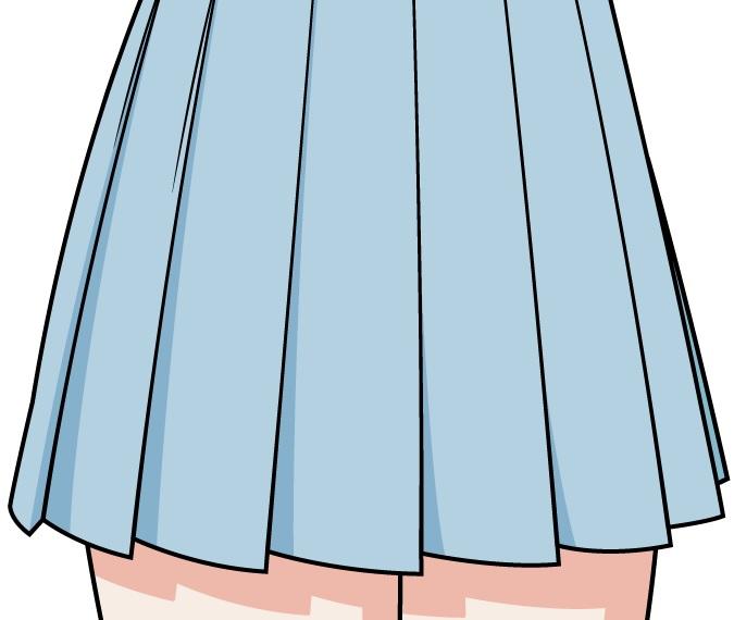 Mewarnai dan menaungi rok sekolah anime