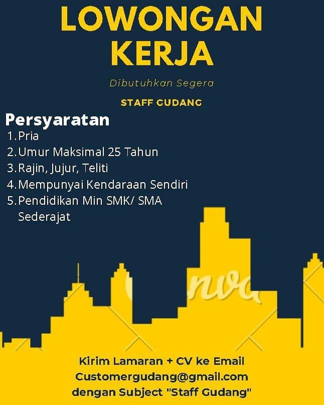Lowongan Kerja Staff Gudang PT. Berkah Alam Semesta Bandung Juni 2021