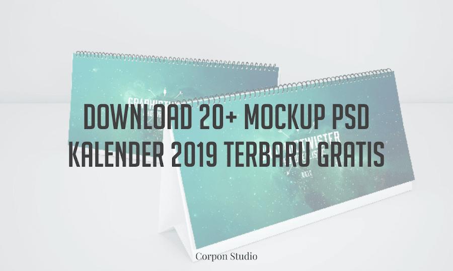 Download 20+ Mockup PSD Kalender 2019 Terbaru Gratis