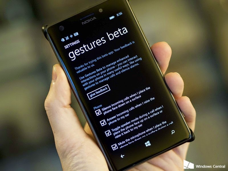 Gesture Beta App by Microsoft for Windows Phone Users