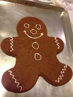 Gingerbread Man Cookie Made with Wilton Cookie Pan