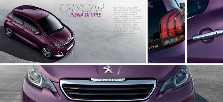 Dimensioni Peugeot 108 3 porte 2016/2017