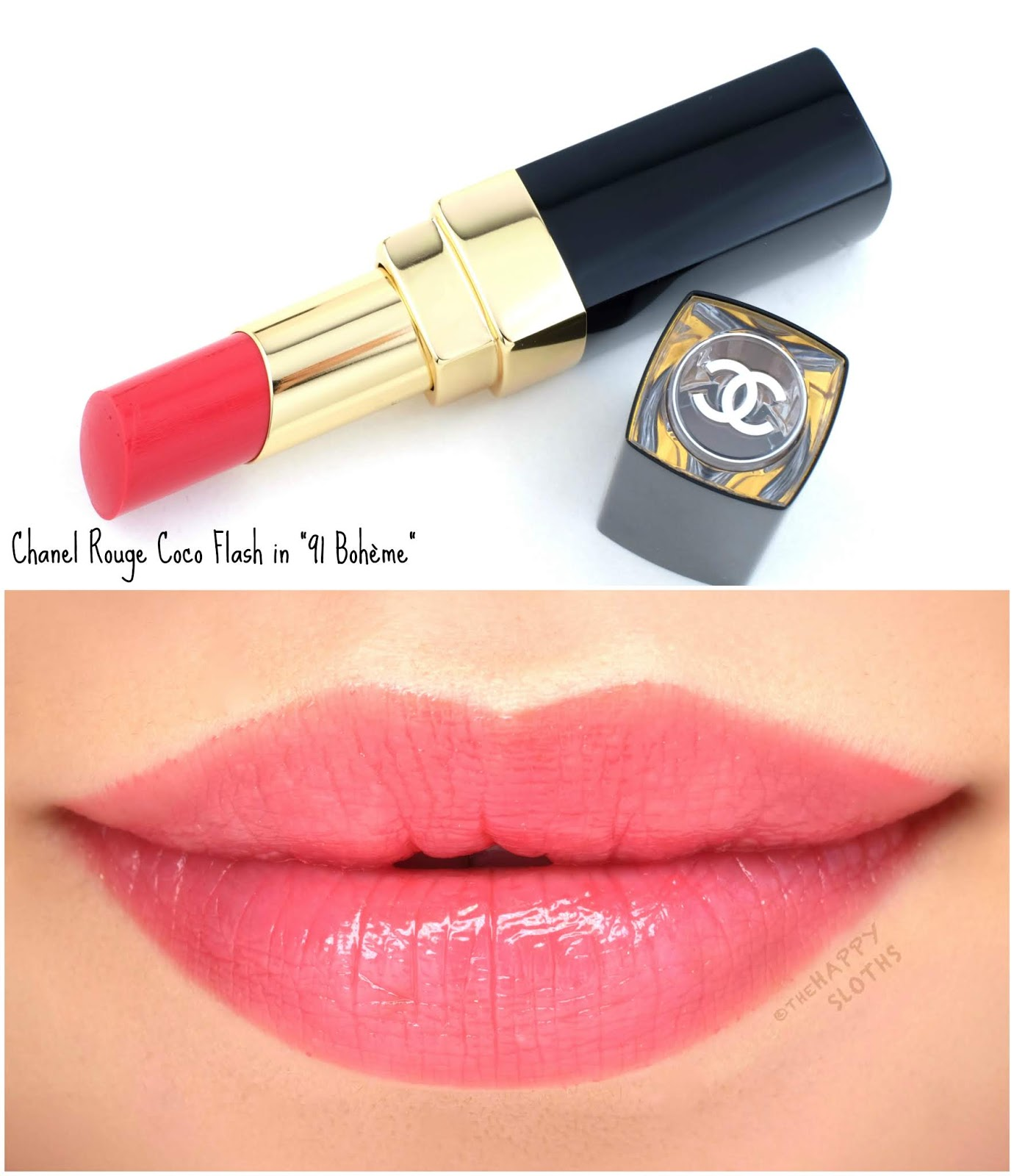 """Chanel   Rouge Coco Flash in """"91 Bohème"""": Review and Swatches"""