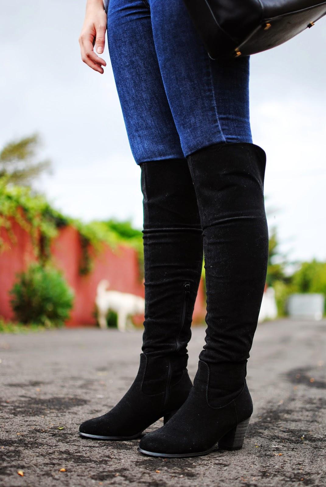primark , nery hdez, blonde , dresslily, over the knee boots, botas por encima de la rodilla