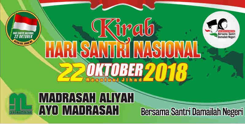 Spanduk Dan Baliho Hari Santri Nasional Ayo Madrasah