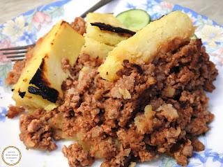 Musaca de cartofi piure cu carne tocata reteta,