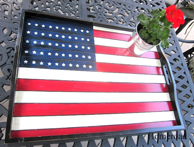 An Easy Tip for Adding Stars to a Hand-Painted Flag