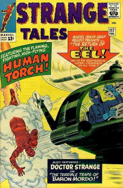 Strange Tales #117, the Human Torch vs the Eel