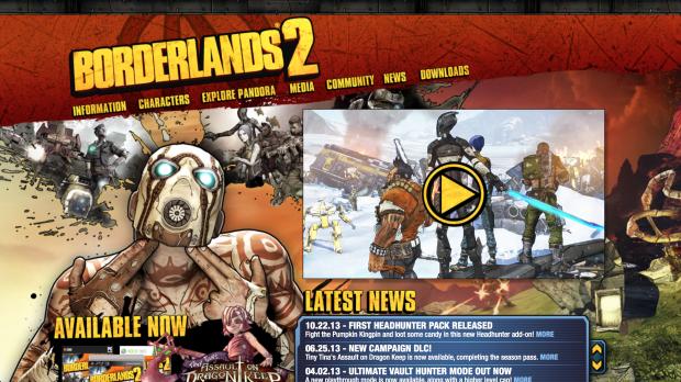 Colección: 20 diseños web de la industria de videojuegos