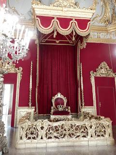 ジェノヴァのMuseo di Palazzo Realeの玉座