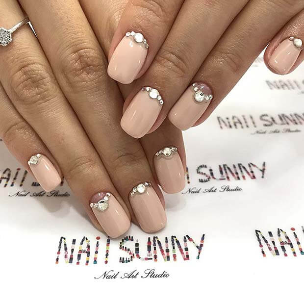 41 Trendy Prom Gel Nails Art With Gems 2018 To Add It To Your Nails