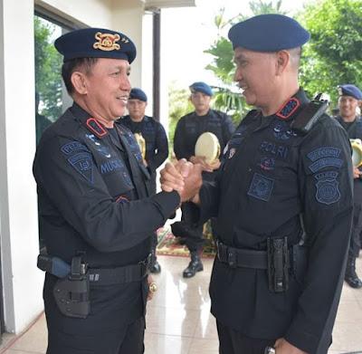 Polda Jambi Sambut Kedatangan Personel BKO Brimob Polda Jambi Di Papua