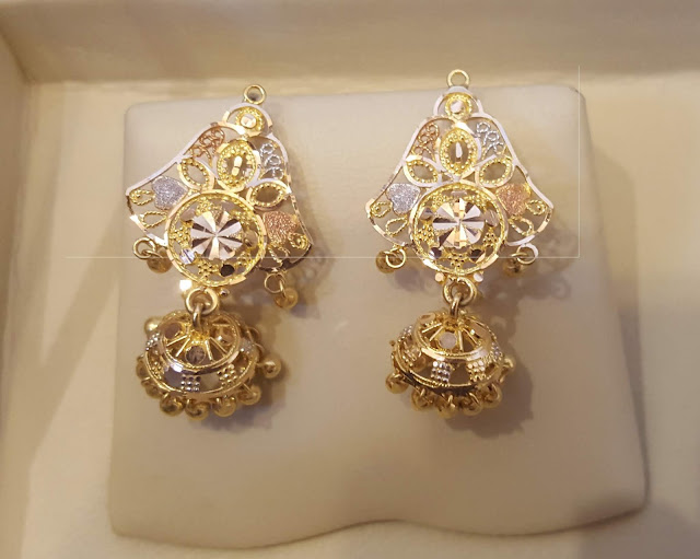 Latest  Gold  Earring design | Small Gold Earrings With Weight