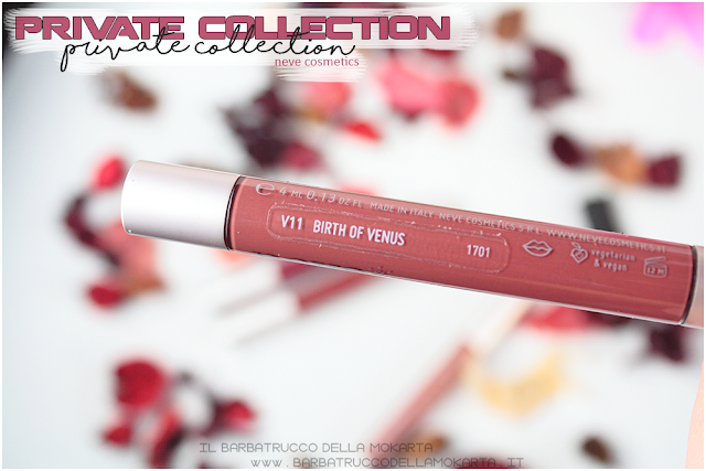 birth of venus vernissage  gloss neve cosmetics , private collection review recensione