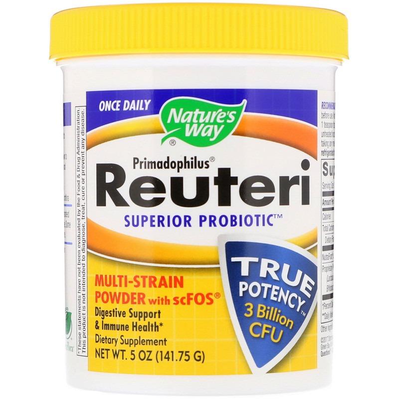 Nature's Way, Primadophilus, Reuteri Superior Probiotic, полиштаммный порошок с scFOS, 141,75 г