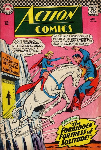 Episode #395 Part IV: Superman Comic Book Cover Dated April 1966: Action Comics #336!