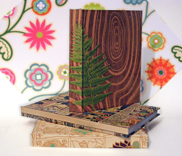 Decorating Books Covered With Wraping Paper