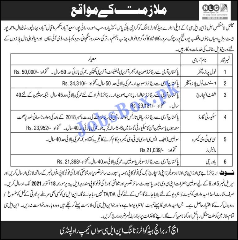 NLC National Logistics Cell Jobs 2021 in Pakistan