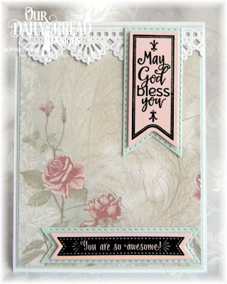 Our Daily Bread Designs Paper Collection: Shabby Rose, Our Daily Bread Designs Stamp Set: Pennant Flag Verses, Our Daily Bread Designs Custom Dies: Pennant Flags, Double Stitched Pennant Flags, Beautiful Borders