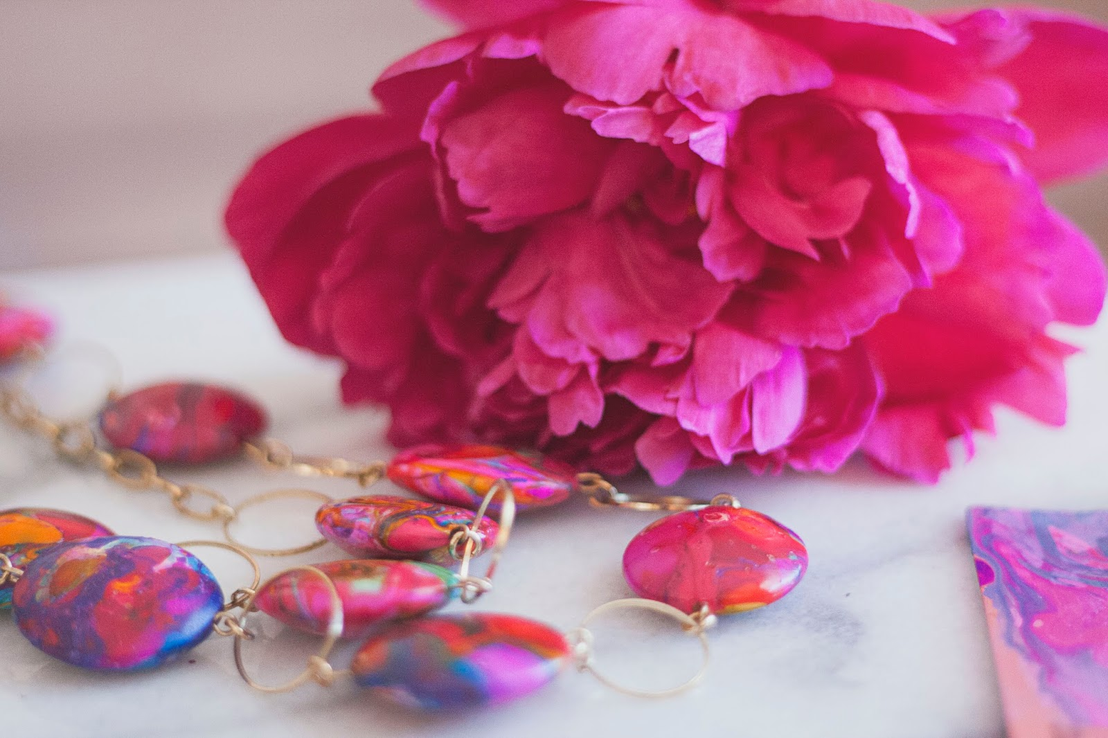 Marbled Necklace DIY