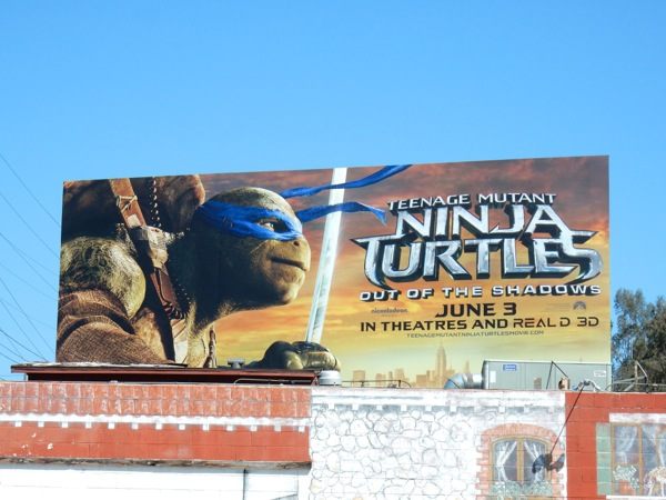 Ninja Turtles Out of the Shadows Leonardo billboard