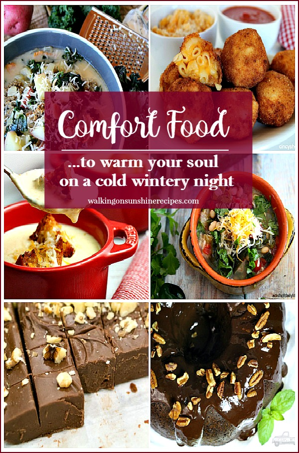 Party: Comfort Food to Warm your Soul on a Cold Wintry Night featured on Walking on Sunshine.